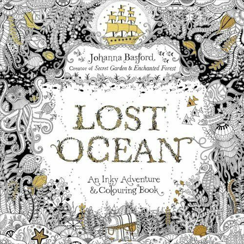 Swearing colouring in book nz - Lost Ocean An Inky Adventure Amp Colouring Book By Johanna Basford 9780753557150 Ebay