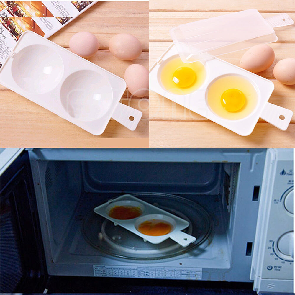 how to cook poached eggs in microwave container