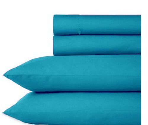 3 Piece Luxury Queen King Sheet Set 4 Colors Fitted