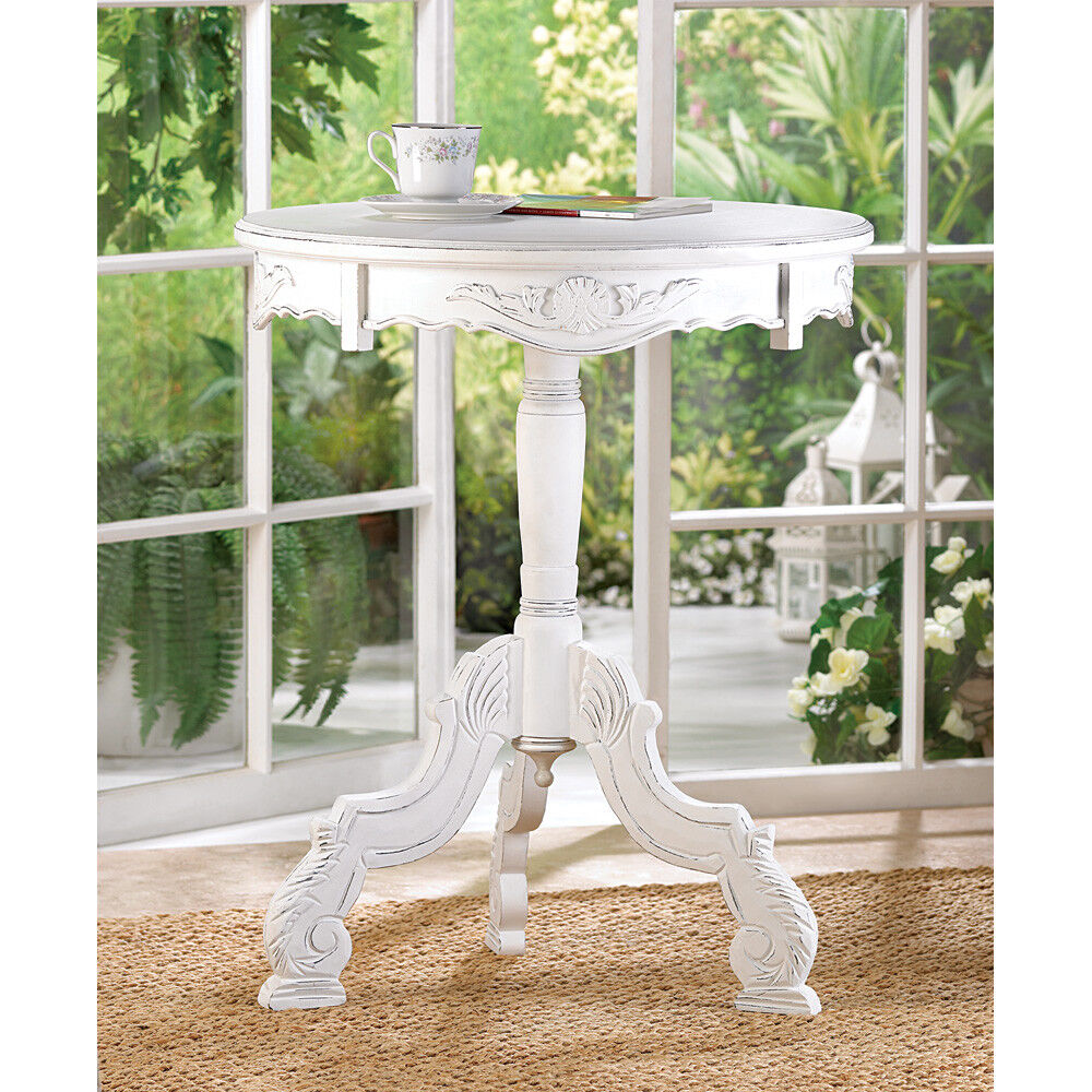 SHABBY CHIC WHITE WOOD END,SIDE TABLE,NIGHT STAND,KIDS