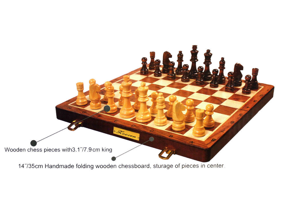 Wooden Board Game Set Travel Games Backgammon Chess