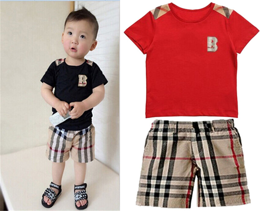 2 7y Boys Toddlers T Shirt Top Cropped Trousers Baby Kids