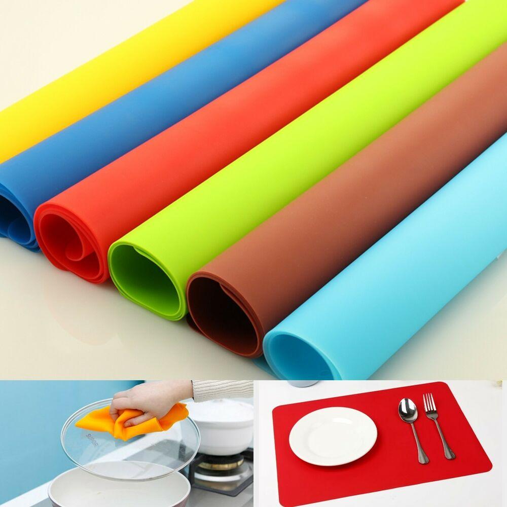 Silicone Flexible Table Mat Pad Liner Placemat Waterproof