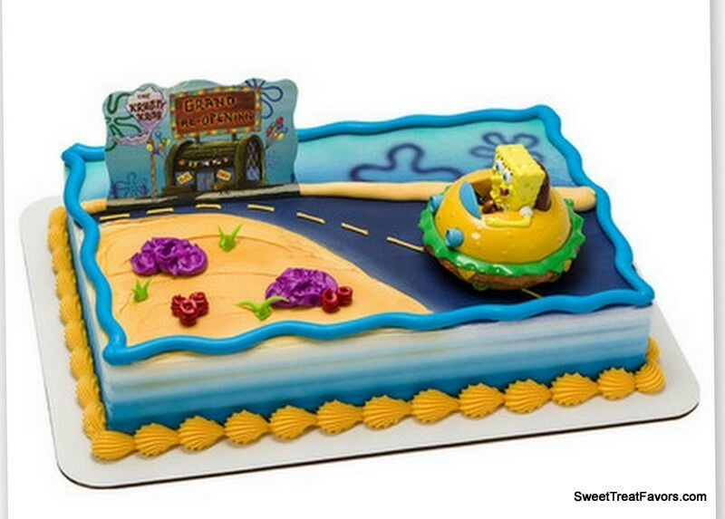 Spongebob Patrick Cake Birthday Party Decoration Ocean