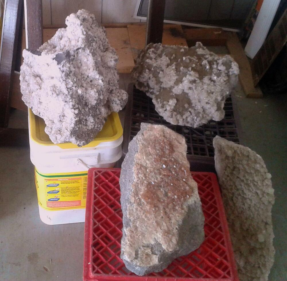 Lot Of Four Very Large Decor Fine Mineral Crysta Lspecimen Quebec Canada Ebay