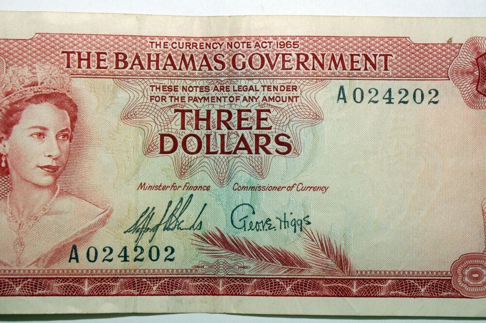 Details About Great Value One Nice Bahamas 3 00 Bank Note That Grades Very Fine Num0816