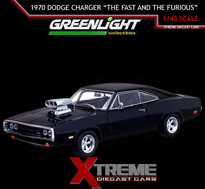 greenlight 86201cl 1 43 the fast and the furious 2001 1970 dodge charger ebay. Black Bedroom Furniture Sets. Home Design Ideas