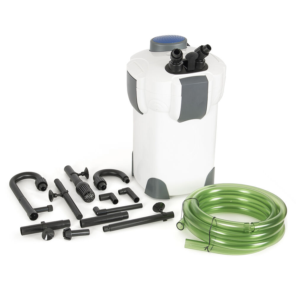 3 stage external aquarium canister filter 265gph 75gallon for Fish tank with built in filter
