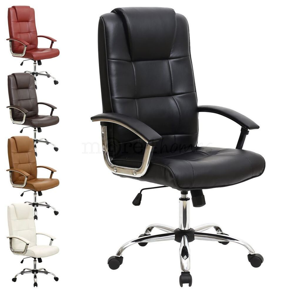high back executive leather office chair computer desk furniture