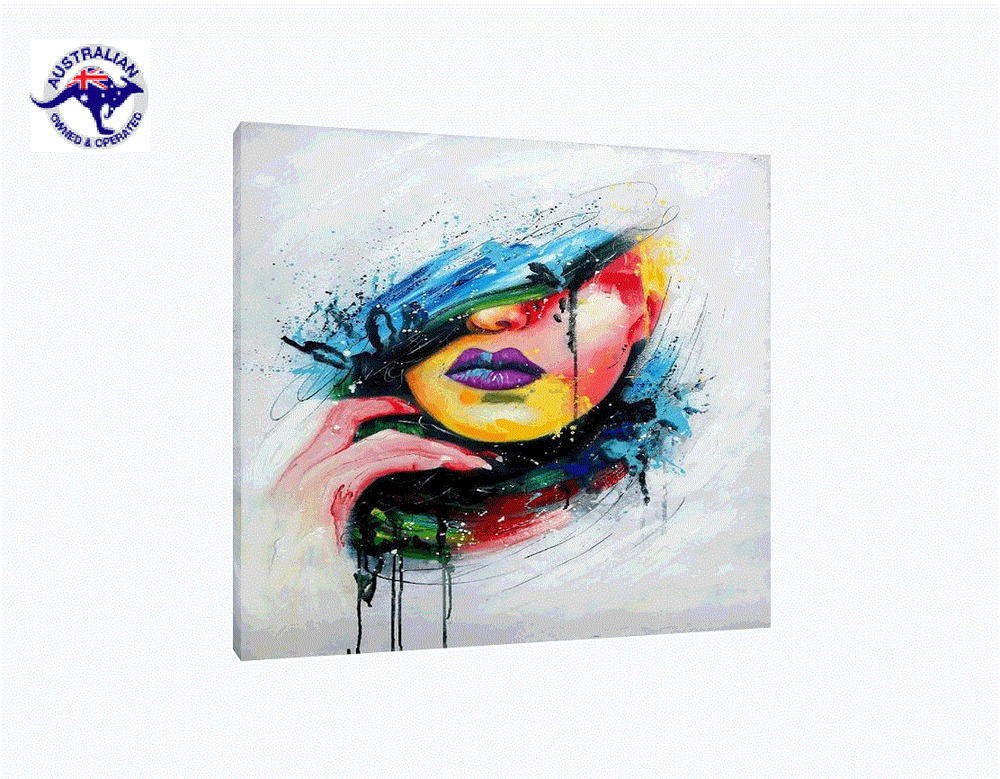 39 graffiti woman 39 beautiful abstract oil painting portrait for Pretty abstract paintings
