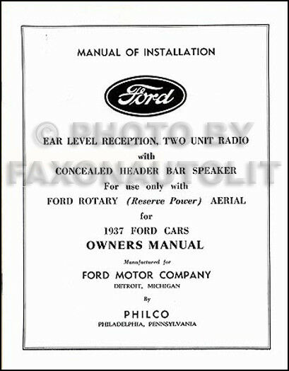 ford radio owners manual  installation book philco owner guide ebay