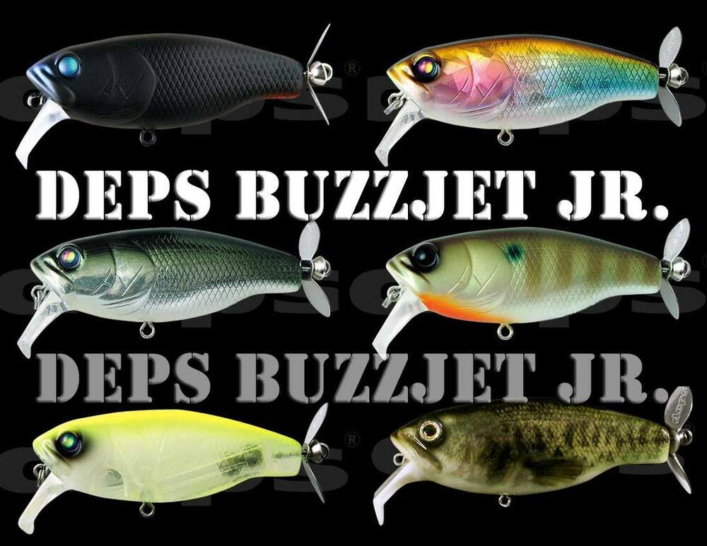Deps buzzjet jr topwater bass fishing lure best color for Best bass fishing lures