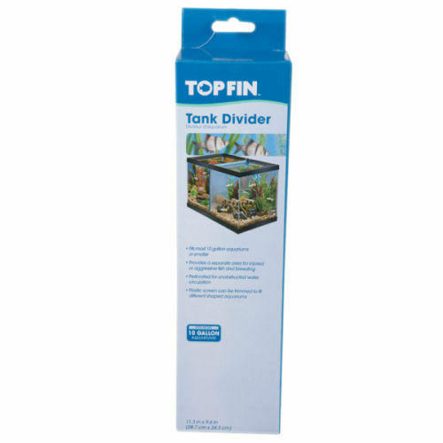 Top fin fish tank dividers panels for 10 gallon 11 3 in x for Fish tank divider 5 gallon