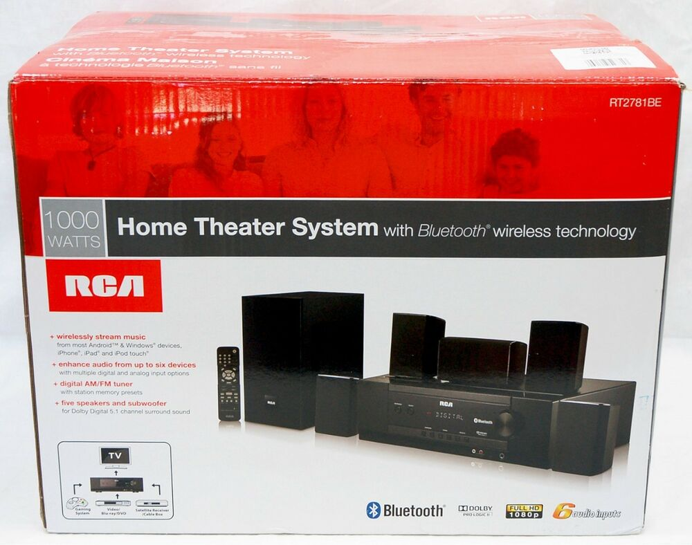 rca rt2781be 1000w bluetooth home theater system dolby. Black Bedroom Furniture Sets. Home Design Ideas