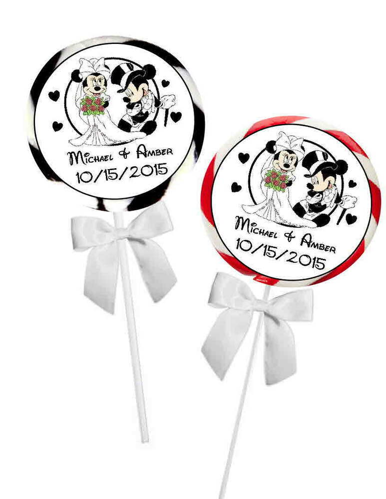 40 disney mickey and minnie wedding favors stickers tags