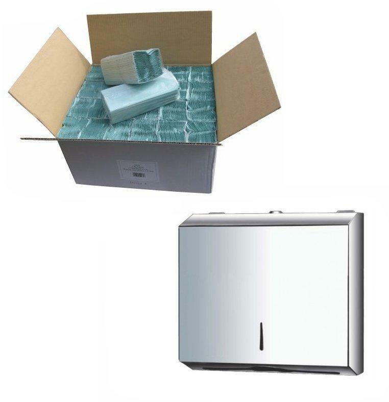 METAL C Fold POLISHED Chrome Stainless Steel Hand Paper Towel Dispenser Silve