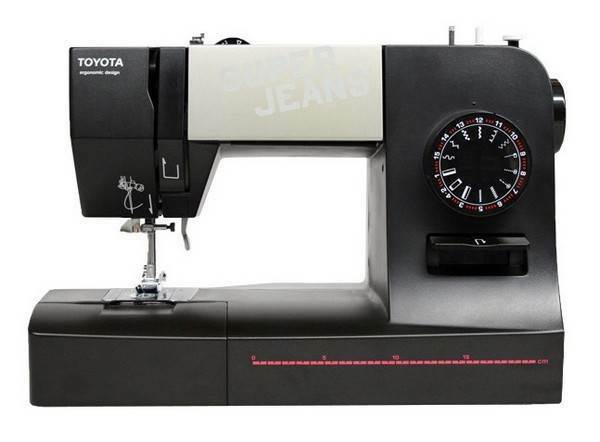 new toyota super jeans sewing machine super j15 eu 15 stitch programmes ebay. Black Bedroom Furniture Sets. Home Design Ideas
