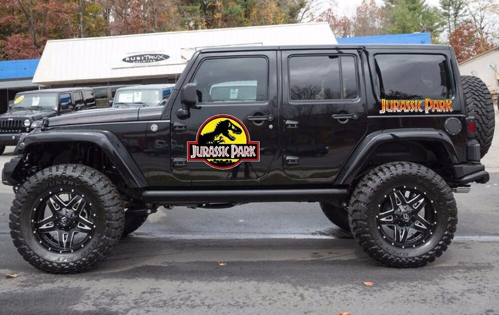 Jurassic Park Decal EBay - Custom windo decals for jeepsjeep hood decals and stickers custom and replica jeep decals now
