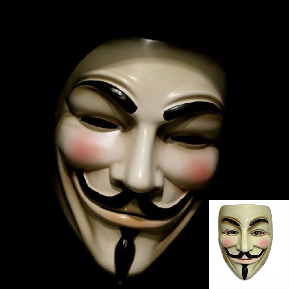Lot v for vendetta mask guy fawkes anonymous party masks dress cosplay ebay - Pictures of anonymous mask ...
