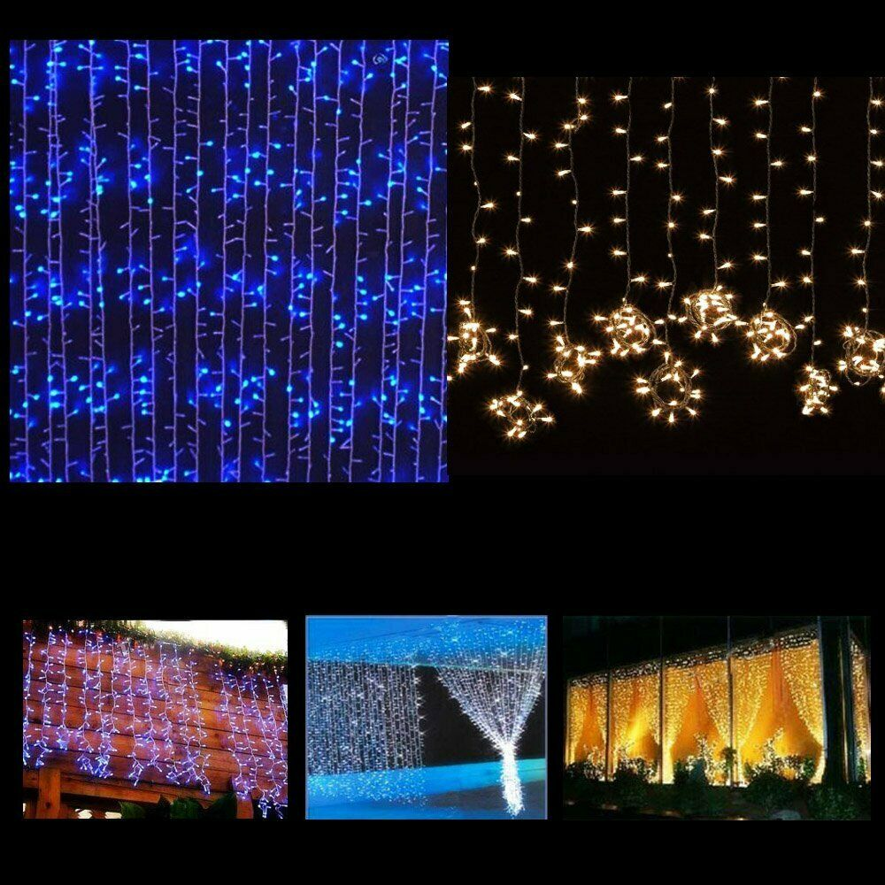 300 900 1800 led outdoor fairy curtains string light for. Black Bedroom Furniture Sets. Home Design Ideas