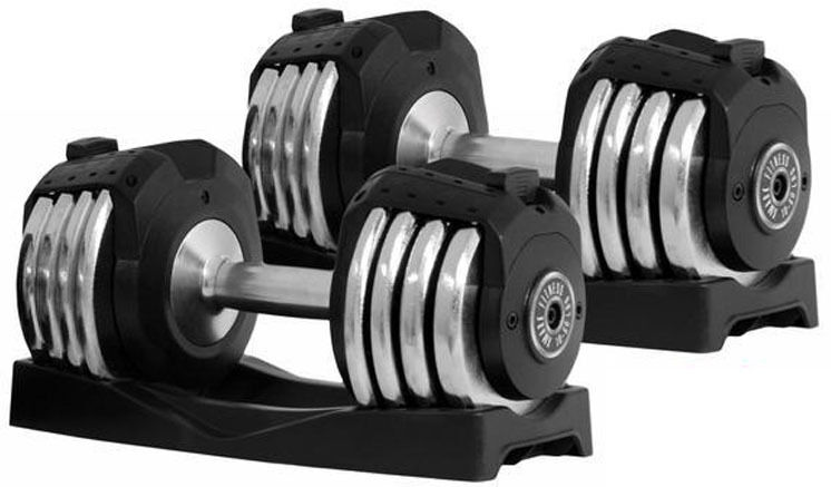 XMark 10-50 lb Adjustable Dumbbell Pair Set of 2 Dumbbells ...