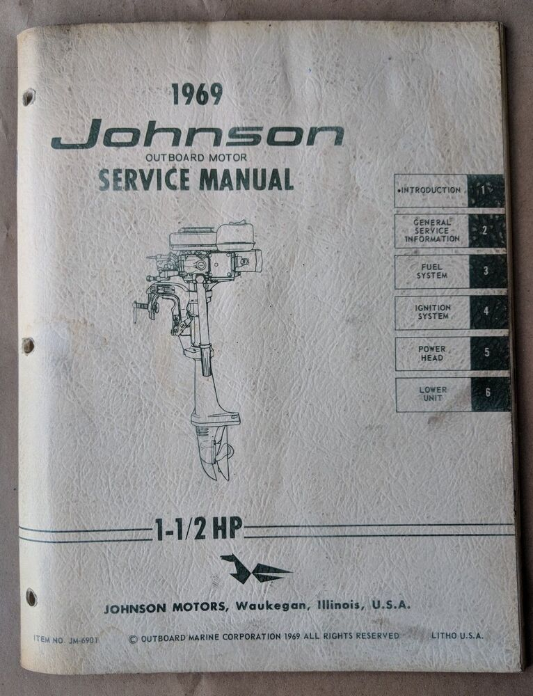 1969 johnson outboard motor 1 1  2 hp service manual   jm 48 HP Johnson Outboard Motor 1975 Johnson 70 HP Outboard