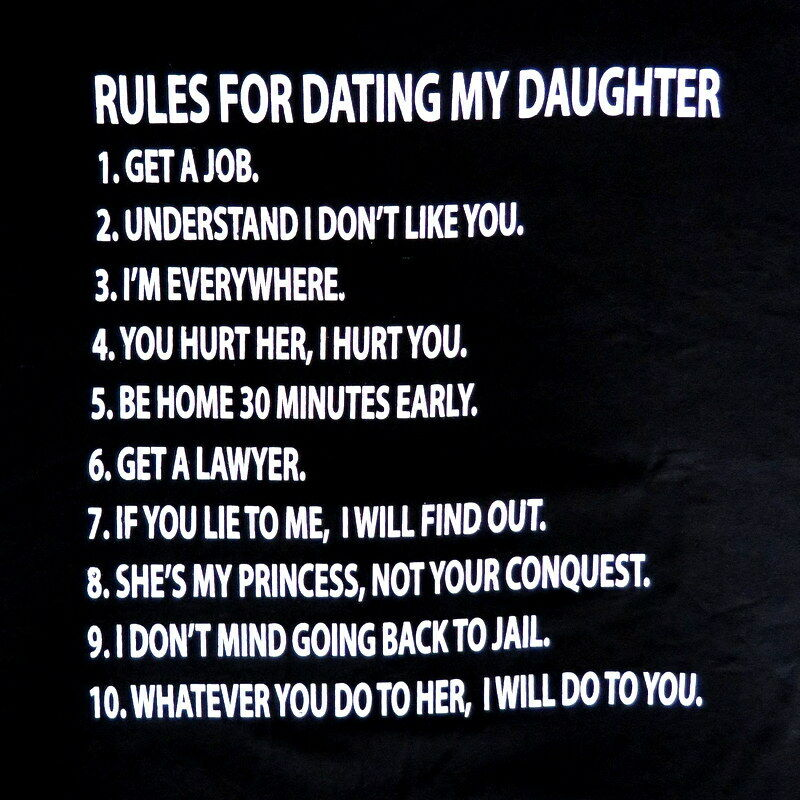 10 rules for dating my teenage daughter joke
