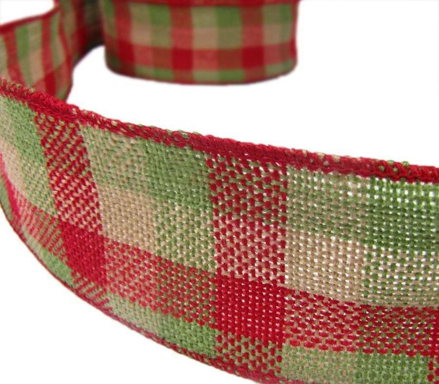 Christmas Red Green Tea Plaid Country Rustic Primitive ...