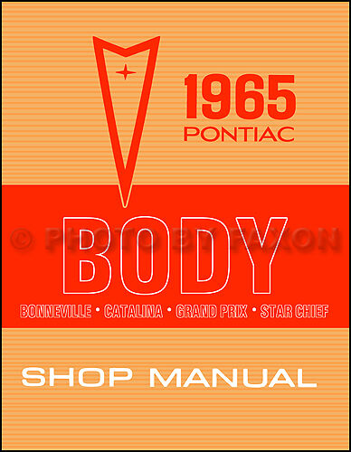 1965 pontiac body repair shop manual bonneville catalina grand prix star chief ebay
