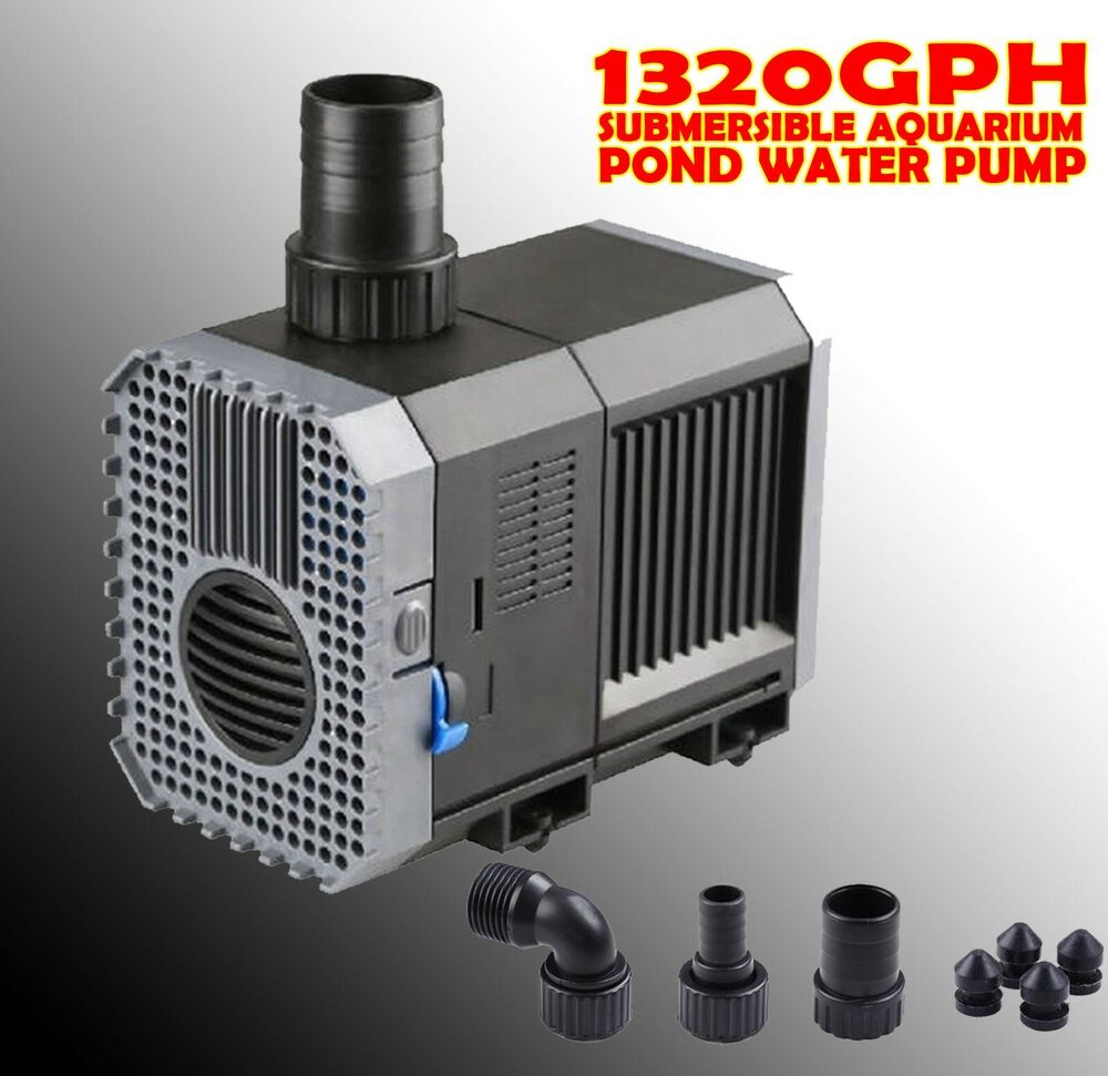 1320 gph submersible aquarium pond water pump fountain for Pond water pump