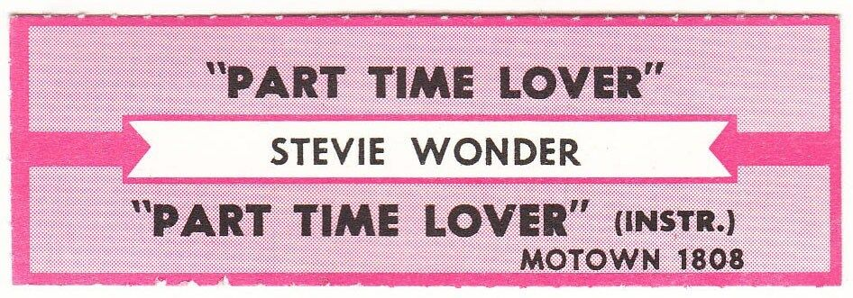 Juke Box Strip Stevie Wonder Part Time Lover Part Time