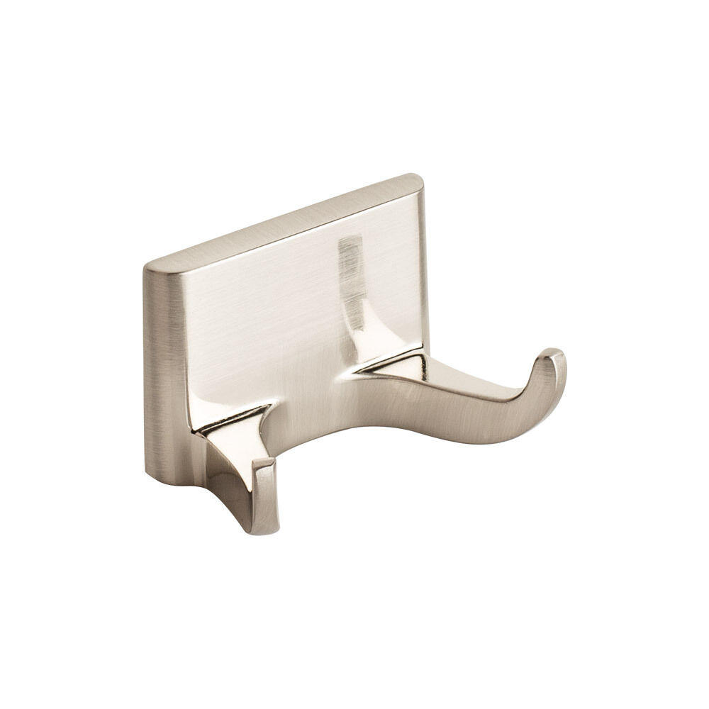 modern brushed nickel double robe hook hanger bathroom hardware bath