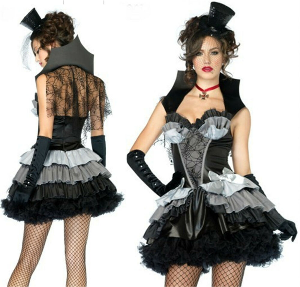 damen halloween karneval kost m m rchen vampir spinne cosplay costume kleid ebay. Black Bedroom Furniture Sets. Home Design Ideas