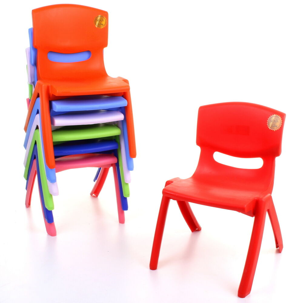 Extra Strong Plastic Childrens Chairs Kids Tea Party ...