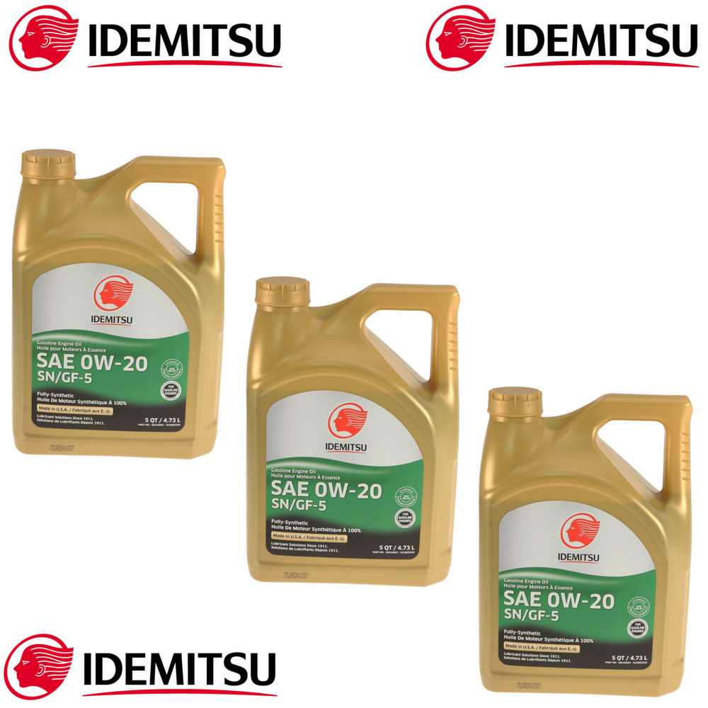 3 Gallons 0W-20 Full Synthetic Engine Motor Oil For Acura