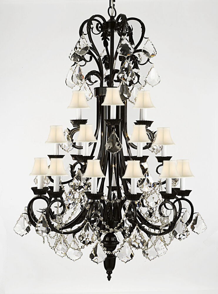 Wrought Iron Foyer Chandeliers