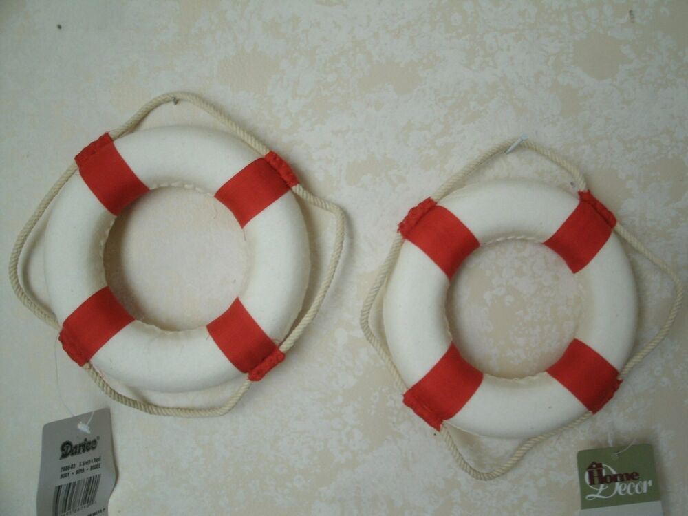 Wall Decoration Rings : Lof of quot nautical life buoy ring wall decor red