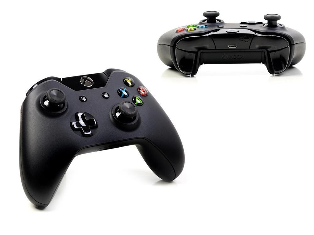 microsoft xbox one original wireless controller schwarz. Black Bedroom Furniture Sets. Home Design Ideas