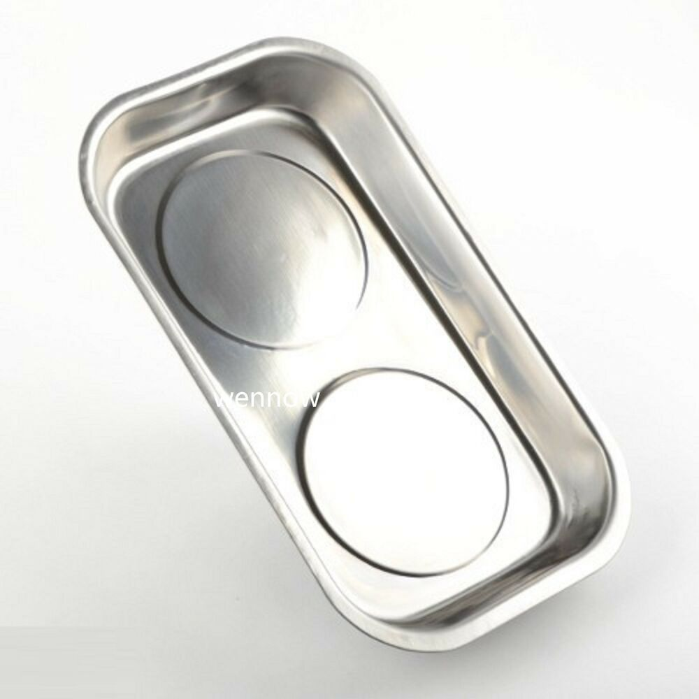 new large stainless steel magnetic part screws dish holder holding pan tray bowl ebay. Black Bedroom Furniture Sets. Home Design Ideas