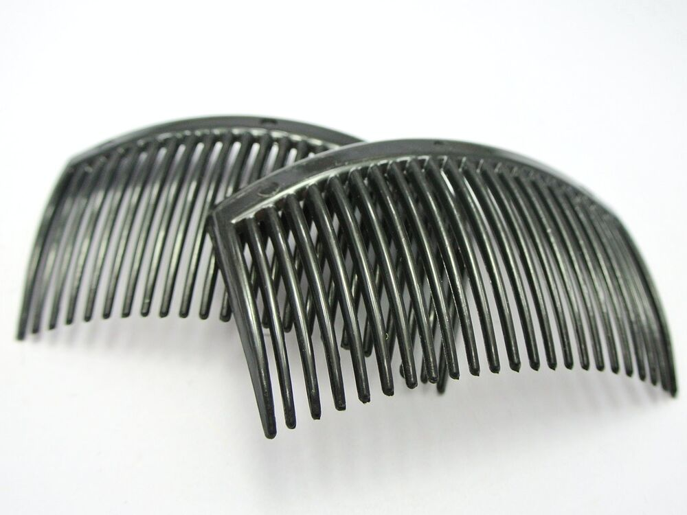 10 black plastic hair clips side combs pin barrettes for Metal hair combs for crafts