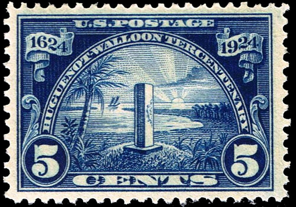 Us Postage Stamp Photo Magnet Monument At Mayport Florida 5 Cents 1924 Issue Ebay