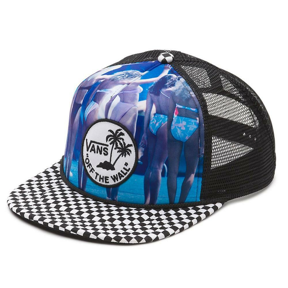e95264eec7d Details about Vans Off The Wall Hank Foto Bikinis Checker Trucker Snapback  Hat Mens New NWT