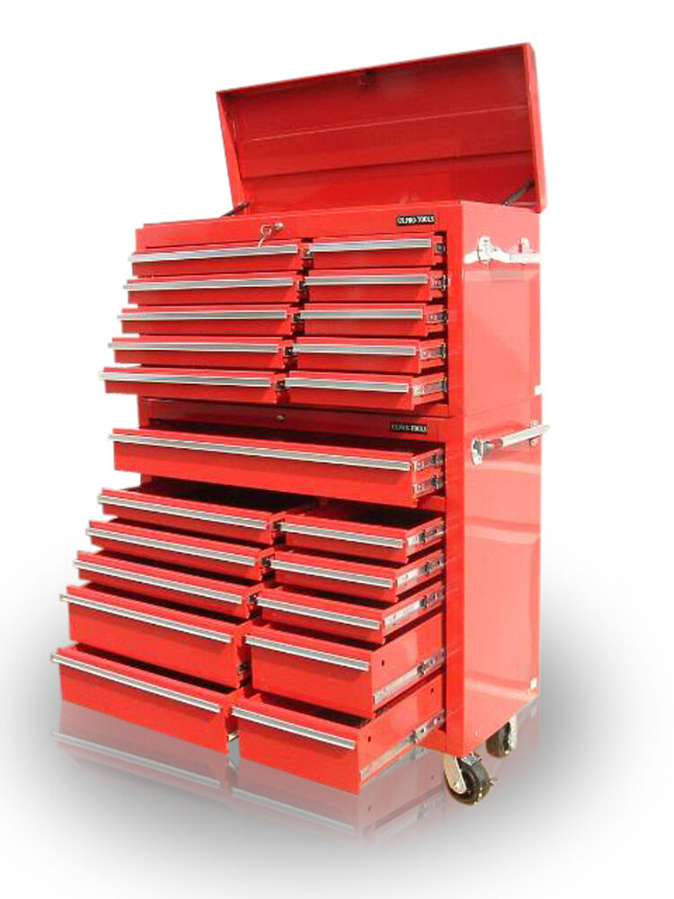 30 Us Pro Tools Red Steel Chest Box Snap It Up Cabinet