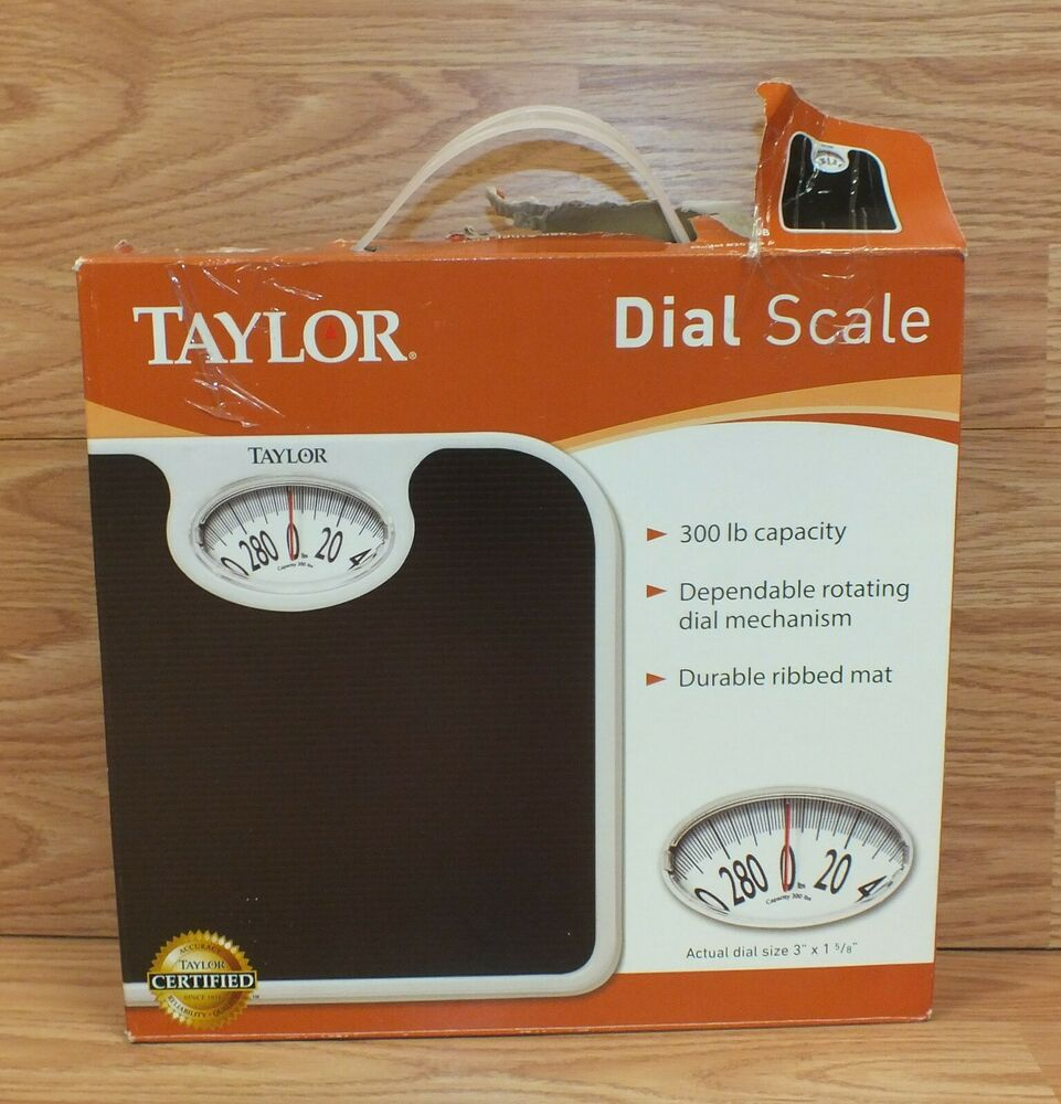 Taylor 2020B 300 Ib Capacity Bathroom Dial Scale With