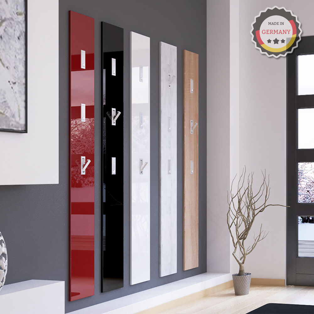wandpaneel klapphaken wandgarderobe garderobenpaneel flur flurgarderobe 170cm ebay. Black Bedroom Furniture Sets. Home Design Ideas