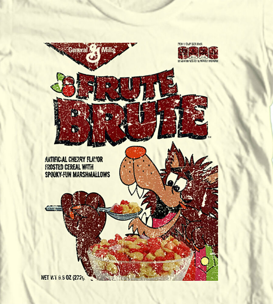 Fruit Brute Retro Cereal Box T-shirt Boo-Berry Count