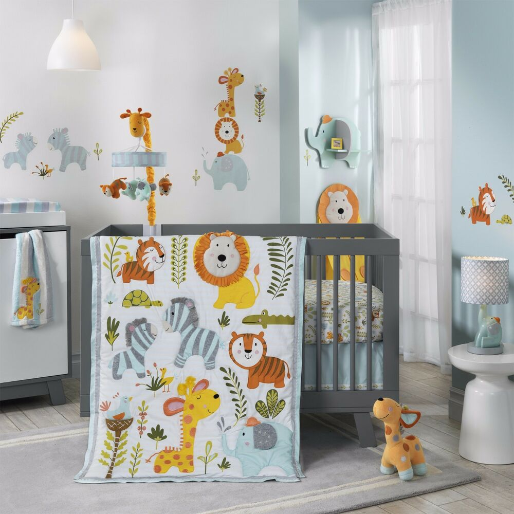 Lambs Amp Ivy Happi Jungle By Dena 6 Piece Baby Crib Bedding