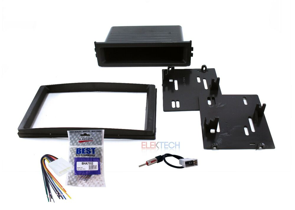 radio dash mounting kit single double din w wire harness. Black Bedroom Furniture Sets. Home Design Ideas