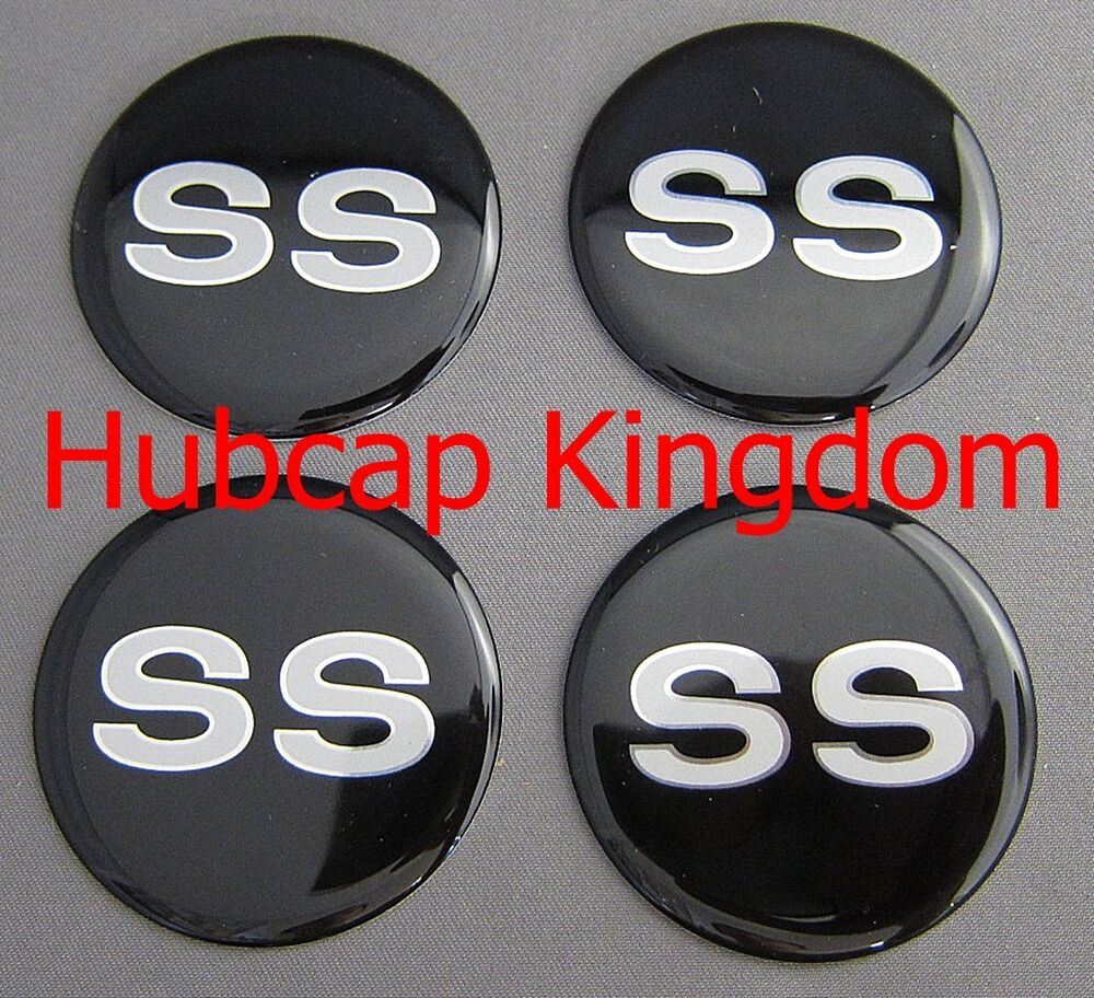 Black Auto Rim Shop >> NEW CHEVROLET Silver SS STYLE Wheel Rim Center Cap STICKER DECAL 2 inch Set | eBay