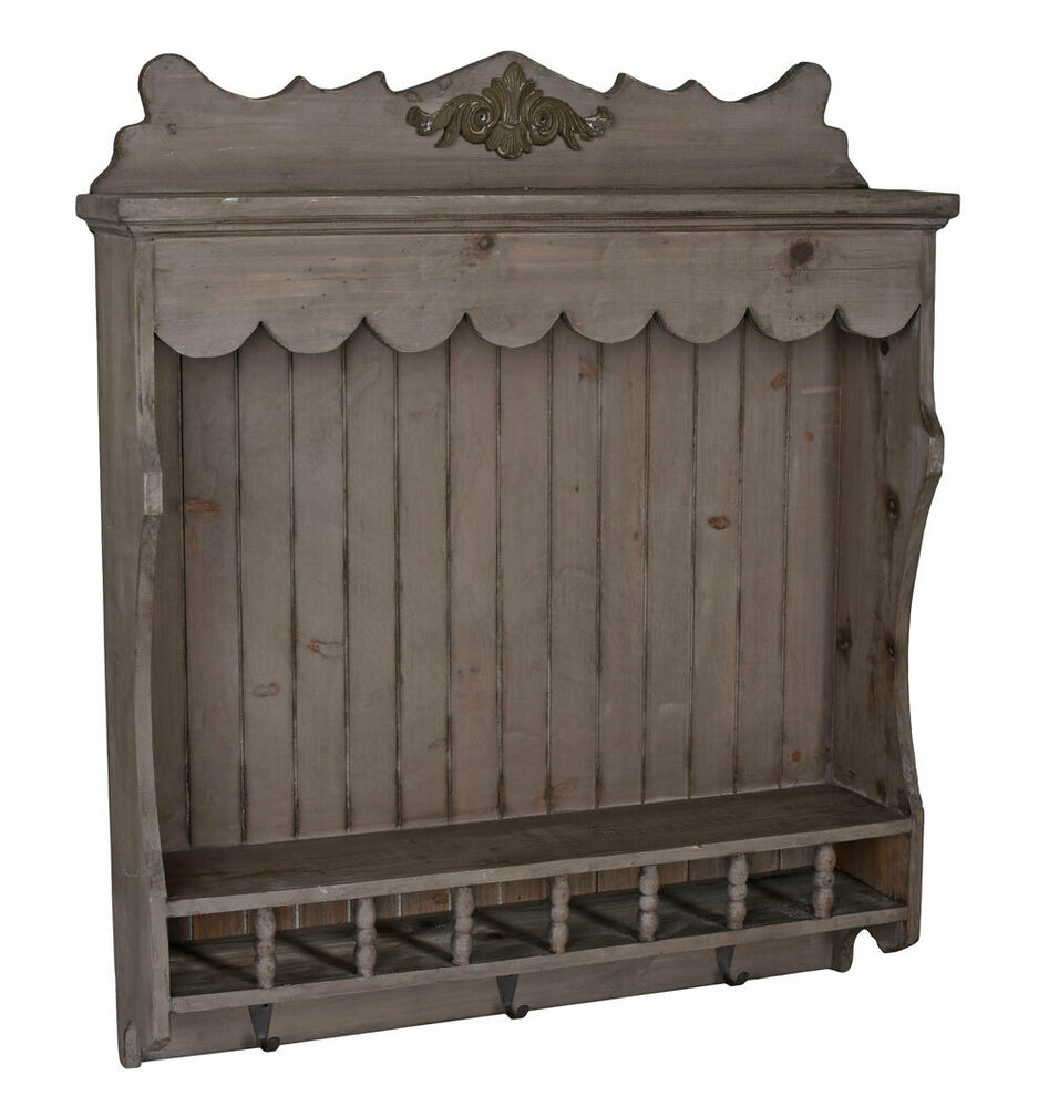 vintage k chenregal tellerboard tellerregal shabby chic. Black Bedroom Furniture Sets. Home Design Ideas